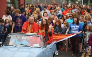 The newly crowned 'King and Queen of the Redheads'