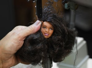 A black haired Barbie
