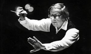 'His passion changed how I thought about orchestral music' … André Previn with the Pittsburgh Symphony Orchestra in 1984.