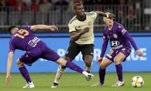Paul Pogba in action against Perth Glory.