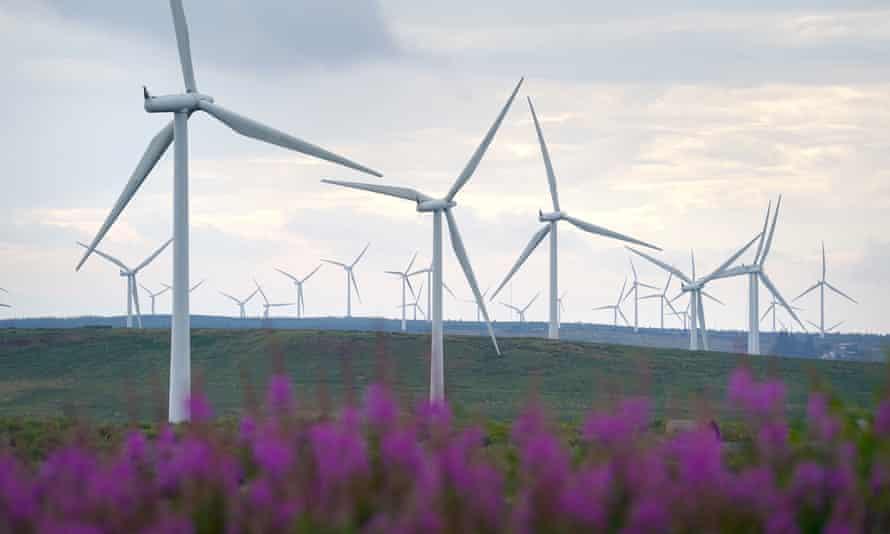 The Whitelees windfarm in Eaglesham.