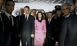Peter Sarsgaard as Bobby Kennedy and Natalie Portman in the title role in Jackie.