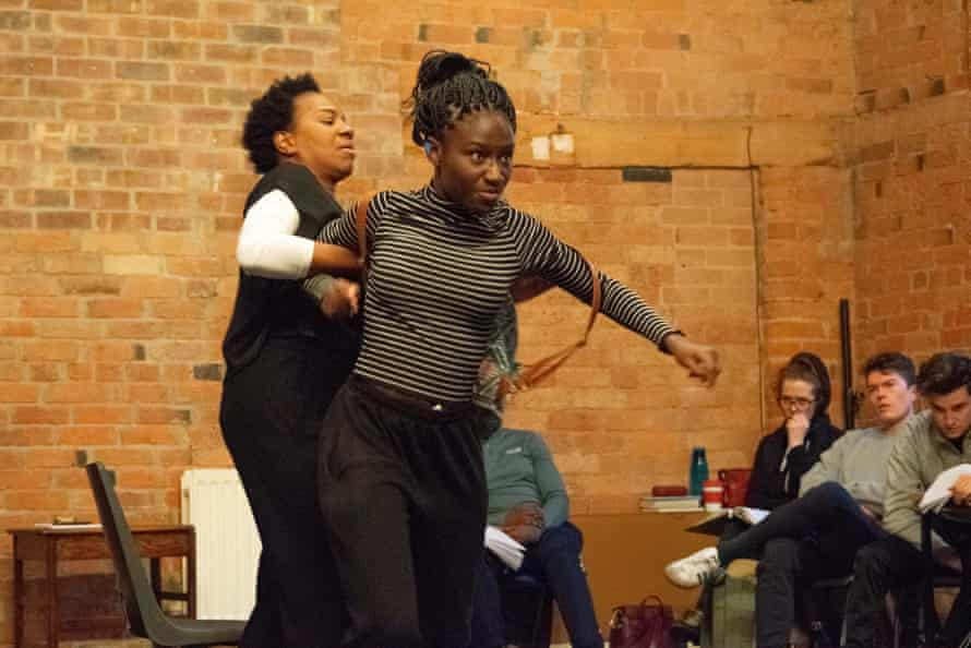 Doreene Blackstock, left, and Heather Agyepong rehearsing Noughts and Crosses.