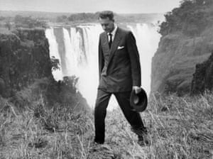 Ian Smith at Victoria Falls in his first public appearance since declaring independence, 22 November 1965.