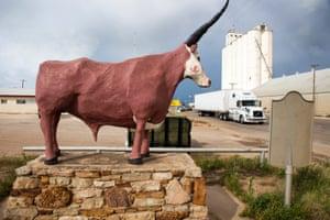 A bovine statue