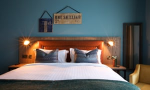 bedroom at The White Hart, Dorking