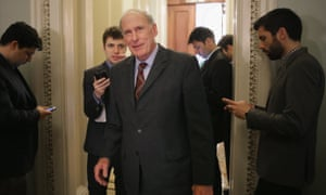 Dan Coats, seen last year, is expected to be named Donald Trump's intelligence director.