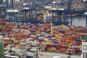 Cargo containers stacked at Yantian port in Shenzhen in China's southern Guangdong province in June.