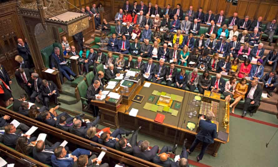 MPs in the House of Commons during prime minister's questions