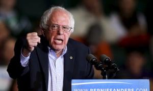 U.S. Democratic presidential candidate U.S. Senator Bernie Sanders speaks during a campaign rally
