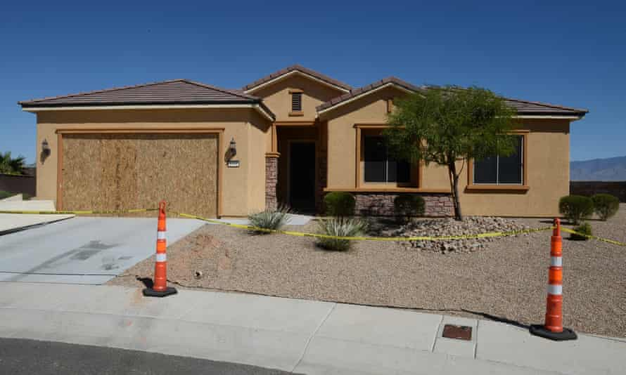 The Mesquite, Nevada home of suspected Las Vegas mass shooter Stephen Paddock, where he boasted of a 'gun room'.