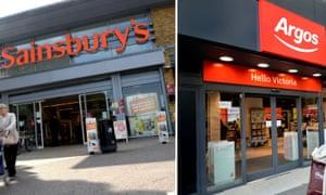 Sainsbury's and Argos stores
