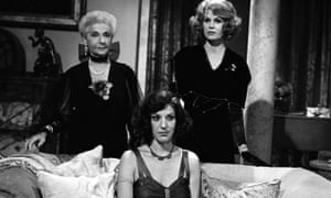 Jennie Stoller, centre, with Patience Collier, left, and Joanna Lumley in an episode of the TV series Sapphire and Steel, 1981.
