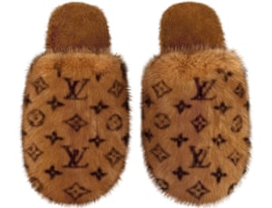 Brown furry slippers