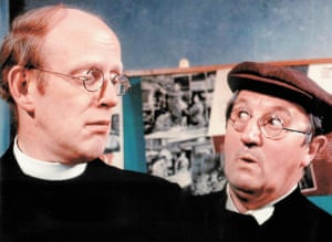 Frank Williams as Rev Timothy Farthing and Edward Sinclair as Maurice Yeatman in Dad's Army.