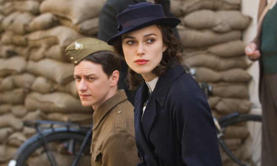 James McAvoy and Keira Knightley in the film version of Atonement. The book has sold six million copies.