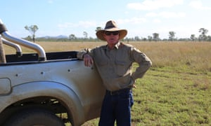 Mick Alexander on his cattle property, Bindaree, near Rockhampton