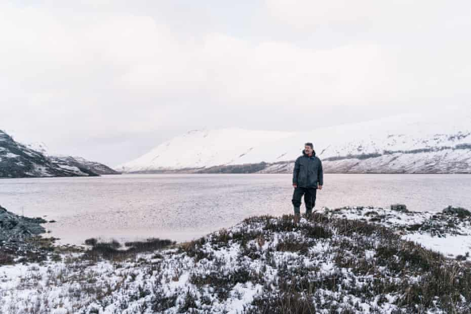 Davy McDonald on the edge of the loch