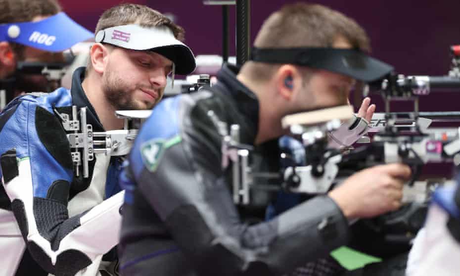 Ukraine's Serhiy Kulish in the men's 50m rifle final
