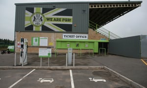 Forest Green, run by the Ecotricity founder Dale Vince, have electric charge points outside their stadium.