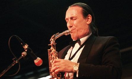 Peter King performing in 1994. He was admired as an improviser and later as a player-composer bridging jazz, classical music and opera.