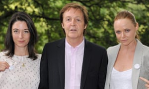 Mary and Stella McCartney flank their father Paul.