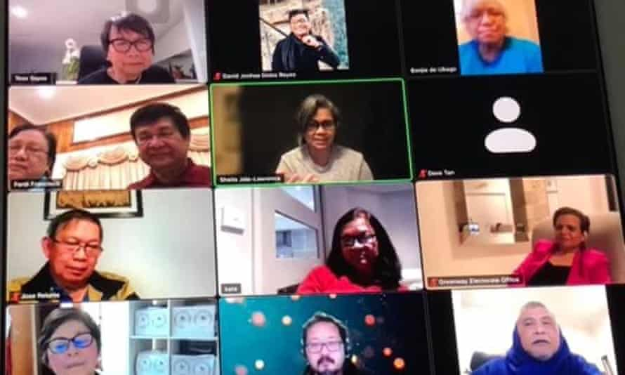 Screengrab of a Zoom call with MP Michelle Rowland and the Filipino community in Greenway