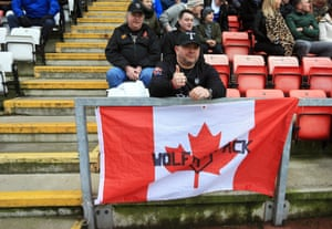 A Toronto Wolfpack fan watches his team beat Leigh in the Championship.