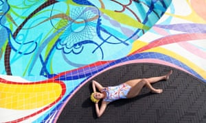 Gateway, a swimming pool by Portuguese artist Joana Vasconcelos, at Edinburgh art festival.