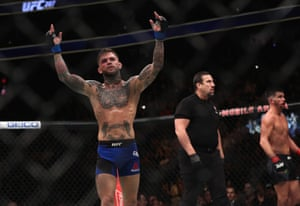Cody Garbrandt celebrates his win.