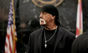 Terry Bollea, aka Hulk Hogan, in court on Thursday during his trial against Gawker Media, in St Petersburg, Florida.