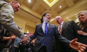 Marco Rubio campaigns in Atlanta, Georgia.