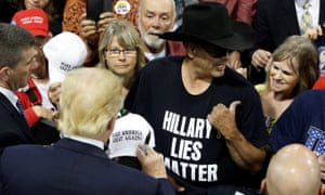 The presumptive Republican nominee, Donald Trump, meets supporters in Billings, Montana, on Thursday.