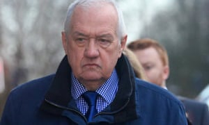 David Duckenfield, matchday police commander at Hillsborough, arrives at Preston crown court
