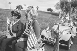 The Daughters of the American Revolution at Fountain Hills parade, just before Christmas 1997.