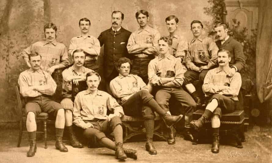 Andrew Watson, seated centre, with the Scotland team in 1881.