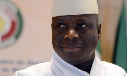 The former president of the Gambia Yahya Jammeh, who is living in exile in Equatorial Guinea.