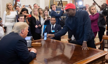 Kanye West visits President Trump in the White House last October.