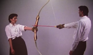 Marina and Ulay perform Rest Energy in 1980.