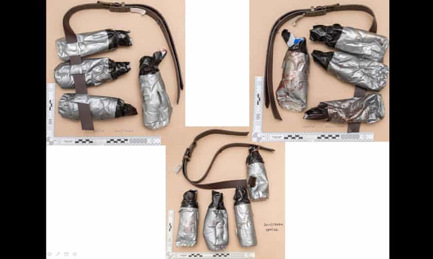 Fake explosive belts