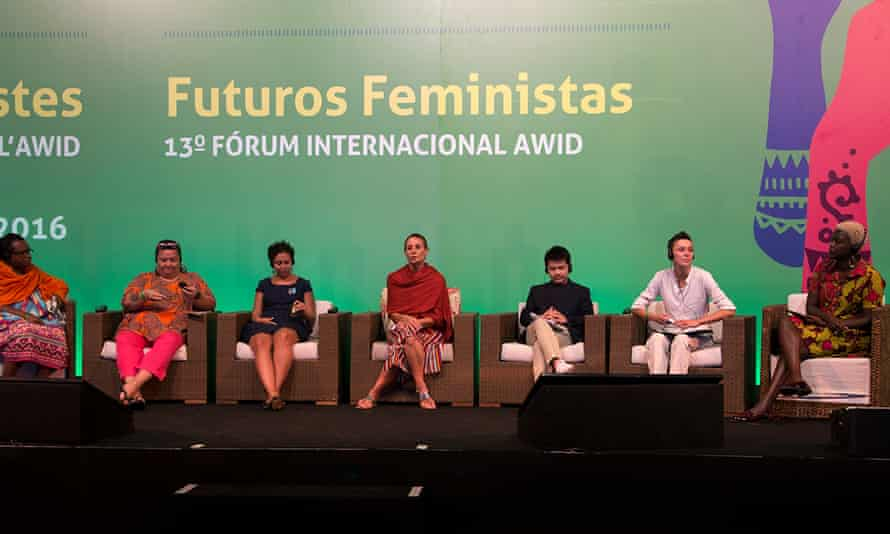 Delegates at the Association for Women's Rights in Development (Awid) forum in Bahia, Brazil