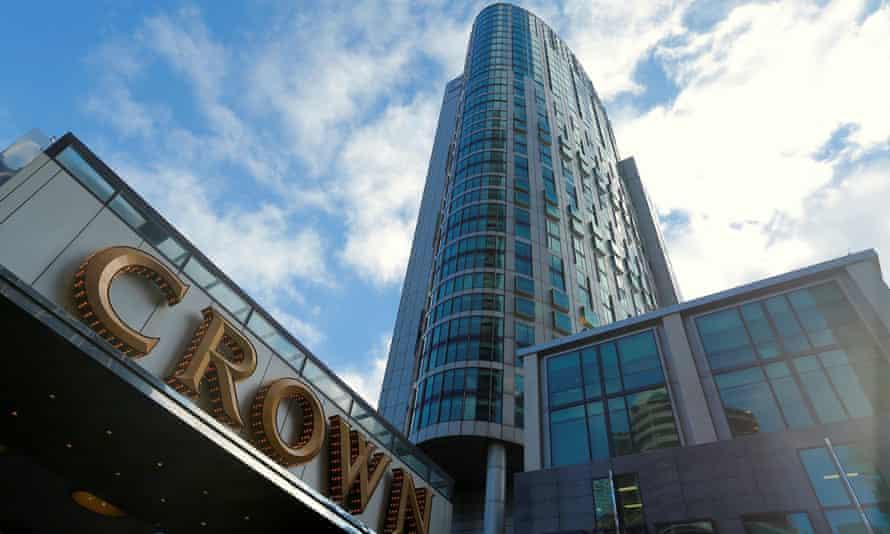 Crown Resort building in Melbourne, Australia