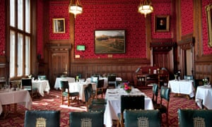 Strangers' dining room, in the House of Commons.