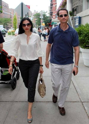 Anthony Weiner with his wife Huma Abedin (now a senior Hillary Clinton aide) in New York in 2011.Photograph: Sipa Press/Rex/Shutterstock