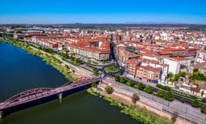 Aerial view, from a drone, of Talavera de la Reina, Extremedura, Spain