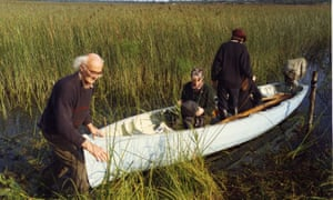Jimmy Furey taking his boat out on the Shannon in the 1990s.
