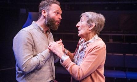 Alex Beckett (Derek) and Janet Henfrey (Mrs Vane) in Blue Heart, 2016.