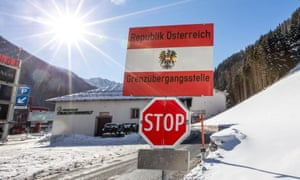 A sign at the border post between Tyrol, Austria, and South Tyrol, Italy.