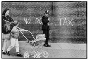 Anti poll tax graffiti, Scotswood, Newcastle, 1990.