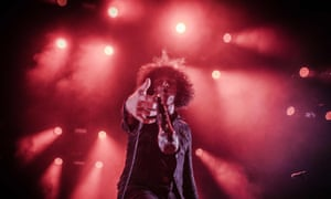 'If the UK press smelled blood, they were gonna go for it' ... At the Drive-In's Cedric Bixler-Zavala.